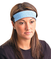 OccuNomix One Size Fits All Blue Regular Cellulose Sweatbands (100 Per Package)