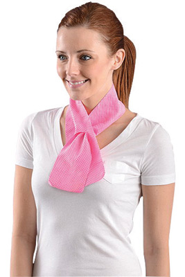 "OccuNomix 31 1/2� X 4"" Pink Miracool� Light Weight Cooling Neck Wrap"