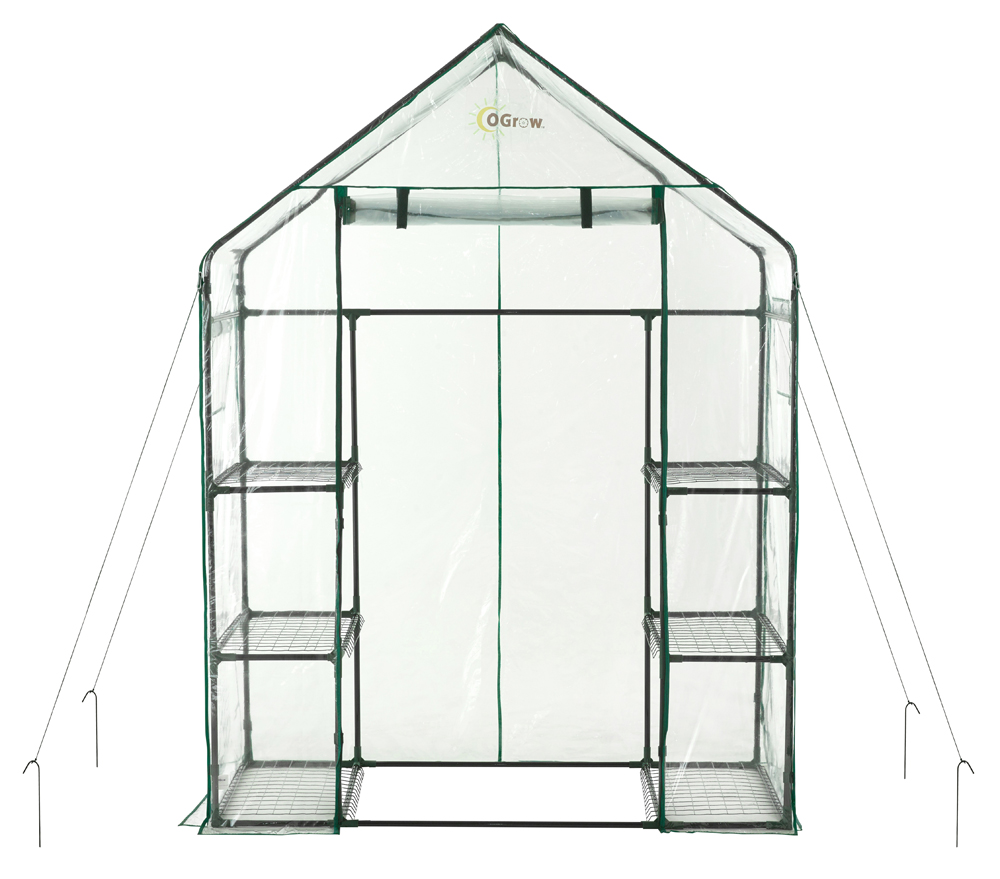 Ogrow Deluxe WALK-IN 3 Tier 6 Shelf Portable GREENHOUSE