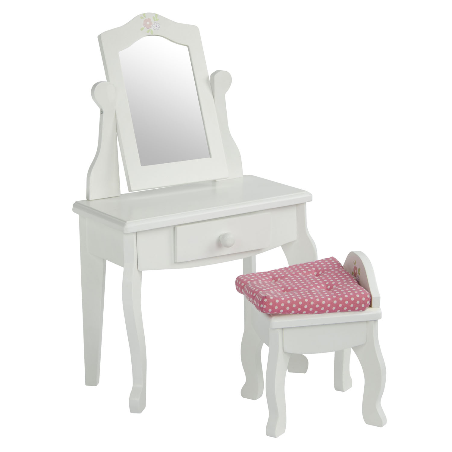 "Olivia's Little World Little Princess 18"" Doll Furniture - Vanity Table and Stool Set"