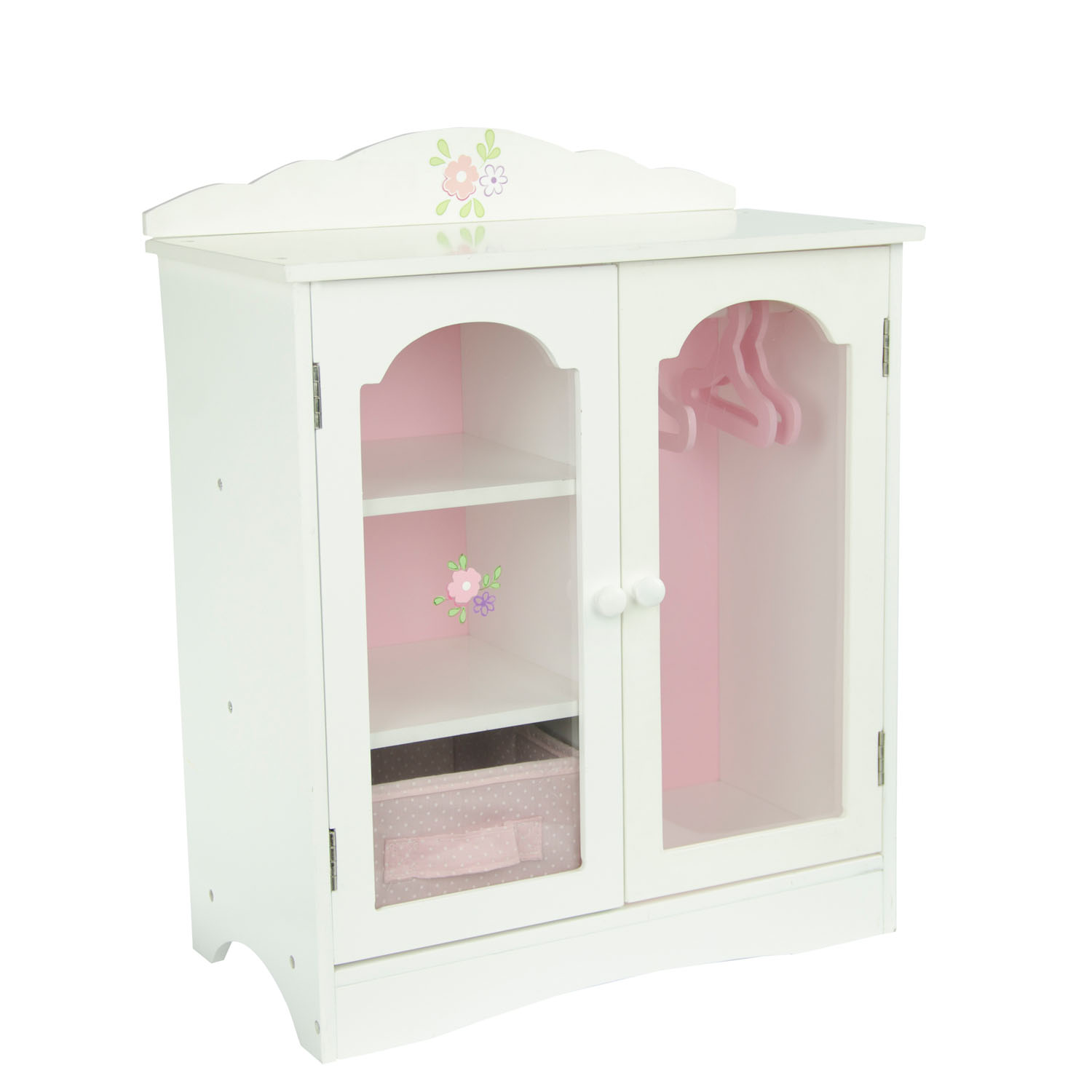 "Olivia's Little World Little Princess 18"" Doll Furniture - Fancy Closet with 3 Hangers"