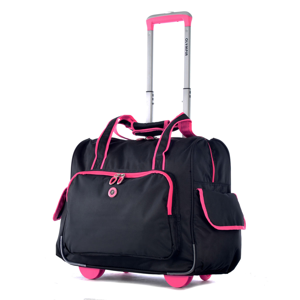 Olympia Deluxe Fashion Rolling Overnighter - Pink