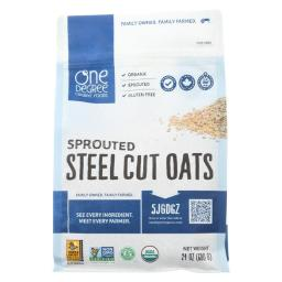Organic Steel Cut Oats - Sprouted ( 4 - 24 OZ )