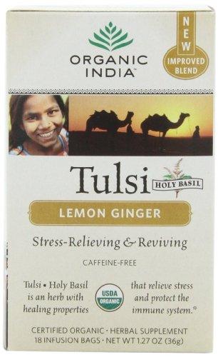 Tulsi Tea Lemon Ginger ( 6 - 18 BAG )