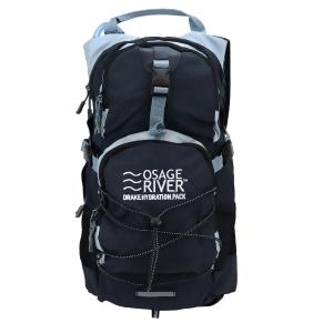 Osage River Drake Hydration Pack Black Gray