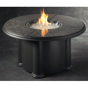 "Outdoor Great Room 48"" Chat Crystal Fire Pit with Granite Top"