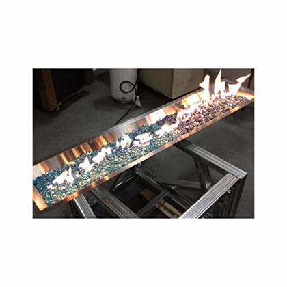"12"" x 64"" Rect Crystal Fire SS Burner"