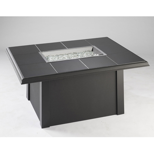 Napa Valley Fire Pit Table Black Base