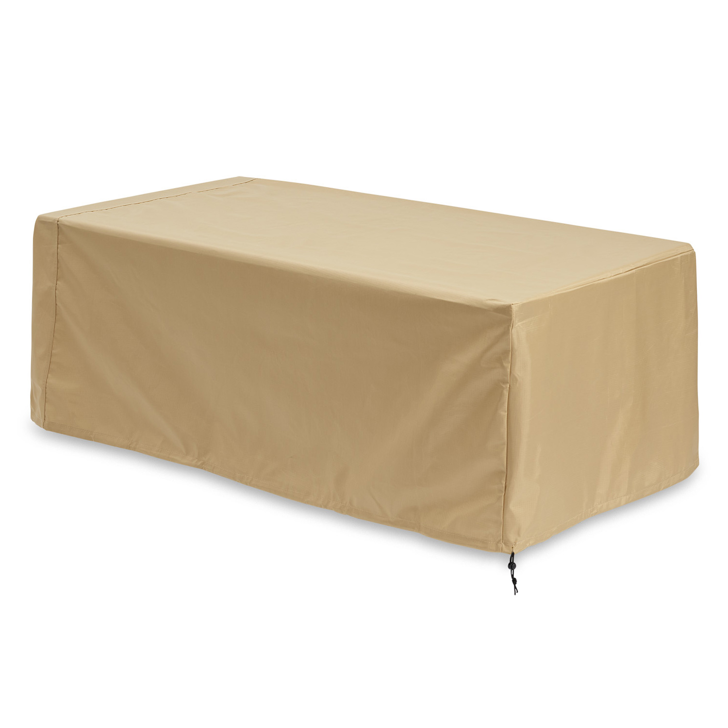 "Linear Tan Protective Cover. (63"" W X 34"" D X 21.75"" H)"