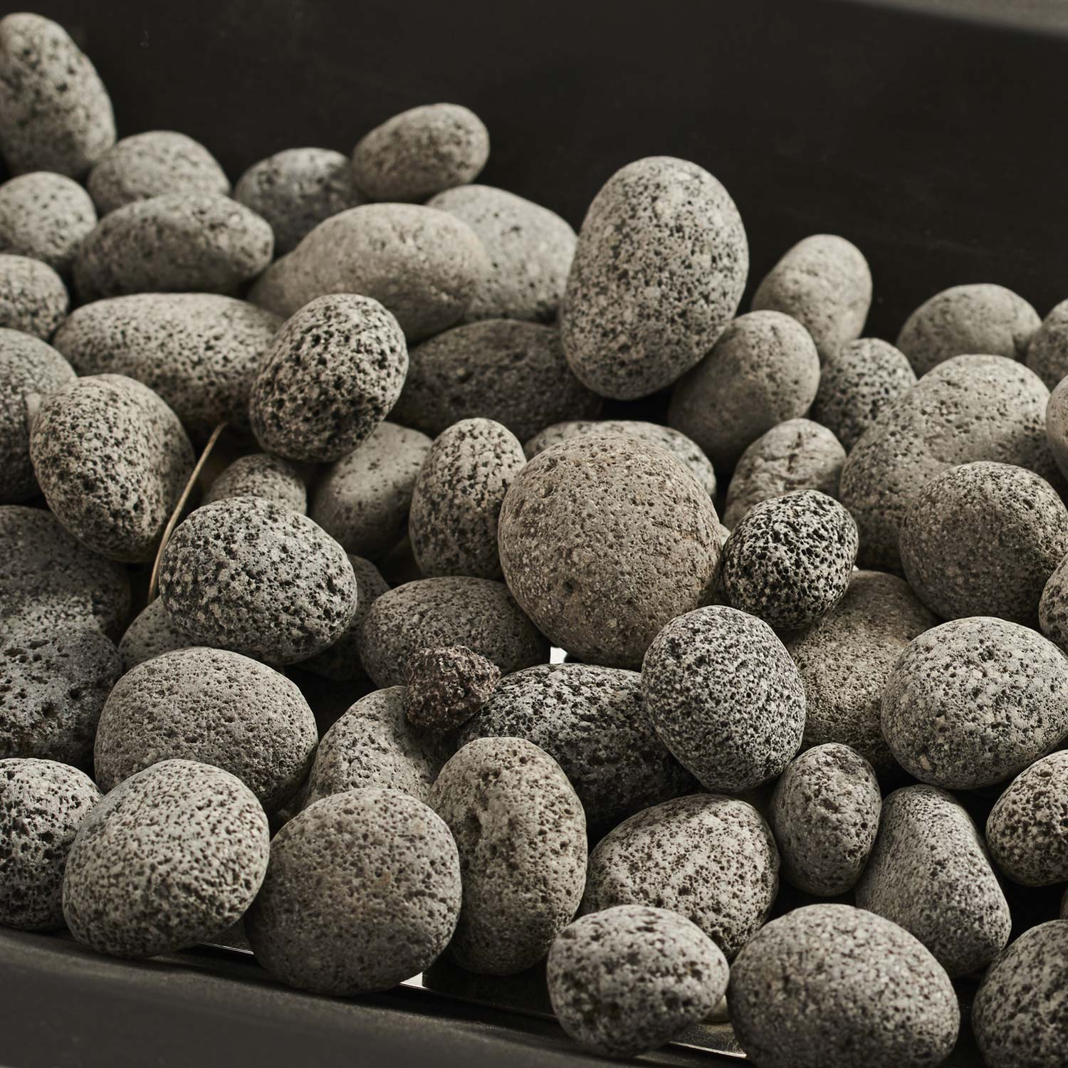 "Tumbled Lava Rock. 3/4"" - 1 1/2"" Size. (6lb Bag)"