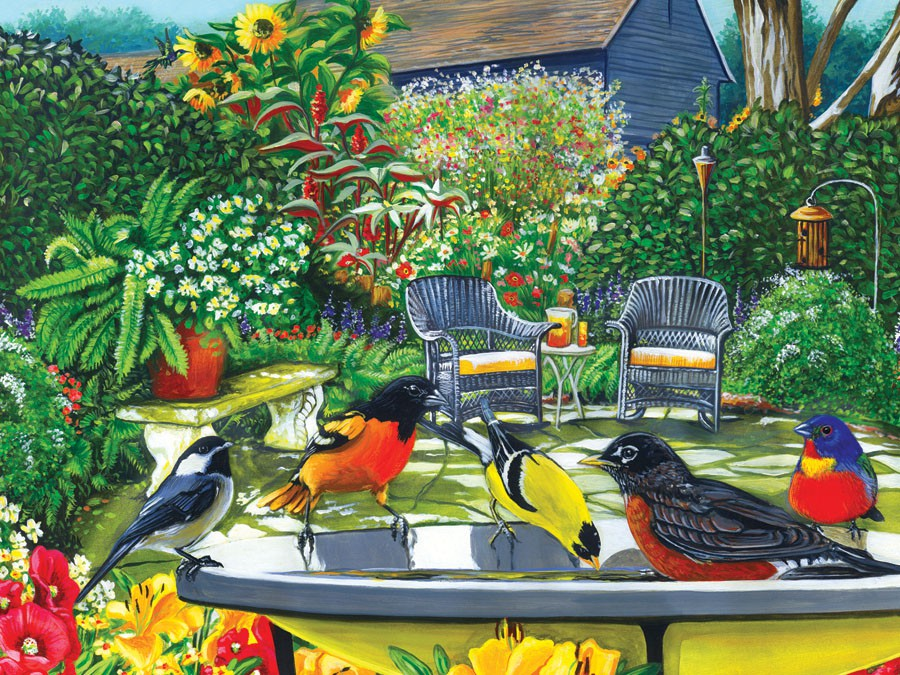 Bird Bath 500 piece Puzzle