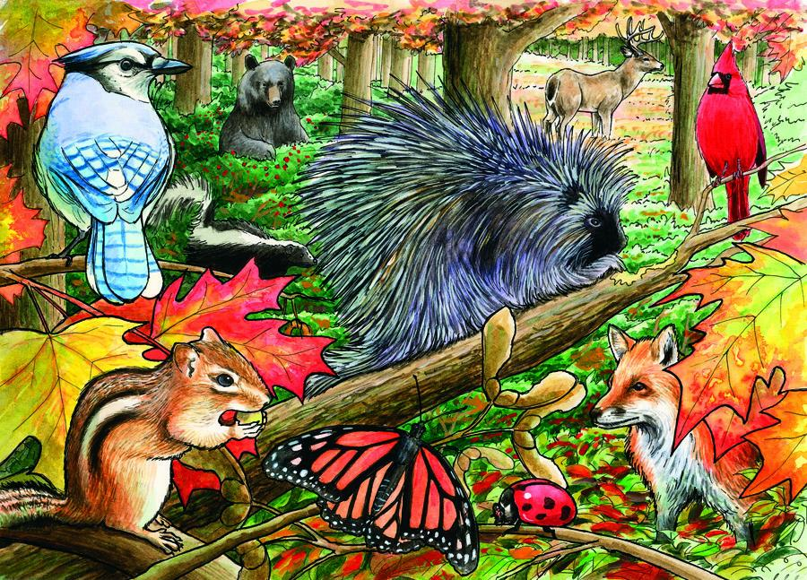Eastern Woodlands Tray Puzzle 35 piece Puzzle