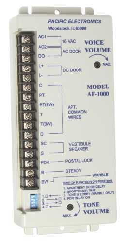 PACIFIC ELECTRONICS AMPLIFIER FOR 3, 4, 5 OR 6 WIRE SPEAKER TYPE STATIONS