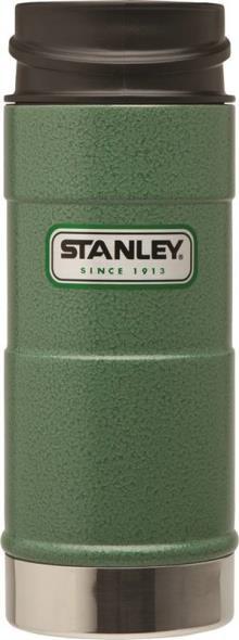 PMI Classic One Hand Vacuum Mug, 12 oz, 18/8 Stainless Steel, Hammertone Green