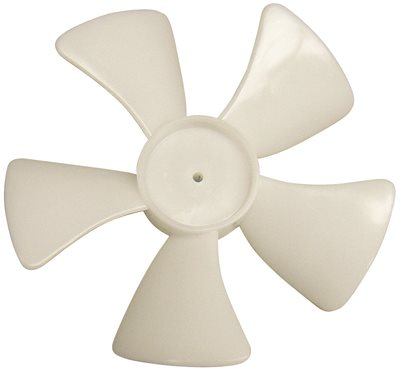 PLASTIC FAN BLADE 5 IN. DIAMETER 5 BLADES 1/4 IN. SHAFT CW