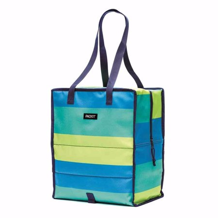 PackIt Grocery Tote, Fresh Stripe
