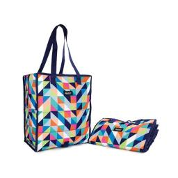 PackIt Grocery Tote Bag, Paradise Breeze