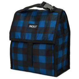 PackIt Lunch Bag, Navy Buffalo