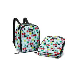 PackIt Upright Backpack, Cherry Dots