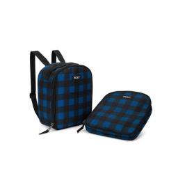PackIt Upright Backpack, Navy Buffalo