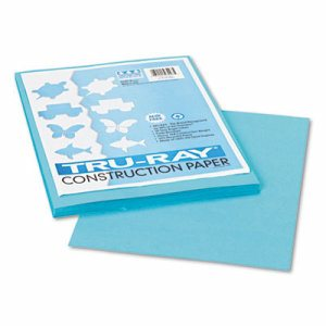 Tru-Ray Construction Paper, 76 lbs., 9 x 12, Turquoise, 50 Sheets/Pack