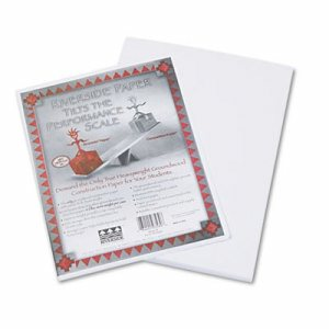 Riverside Construction Paper, 76 lbs., 9 x 12, White, 50 Sheets/Pack