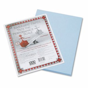 Riverside Construction Paper, 76 lbs., 9 x 12, Light Blue, 50 Sheets/Pack