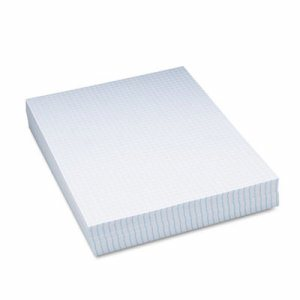 "Composition Paper, 1/4"" Quadrille, 16 lbs., 8-1/2 x 11, White, 500 Sheets/Pack"