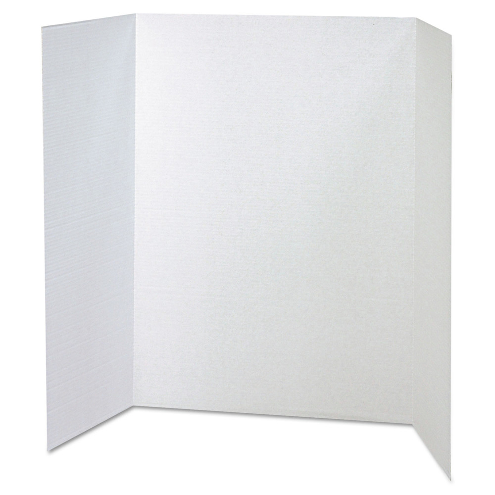 Spotlight Corrugated Presentation Display Boards, 48 x 36, White, 4/Carton