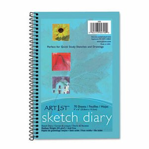 Art1st Sketch Diary, 9 x 6, White, 70 Sheets