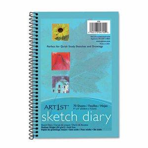 Art1st Sketch Diary, 9 x 6, White, 70 Sheets
