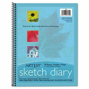 Art1st Sketch Diary, 11 x 8 1/2, 60 lb, 70 Sheets, White