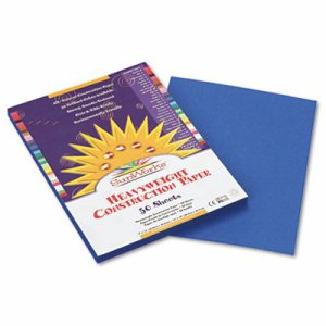 Construction Paper, 58 lbs., 9 x 12, Bright Blue, 50 Sheets/Pack