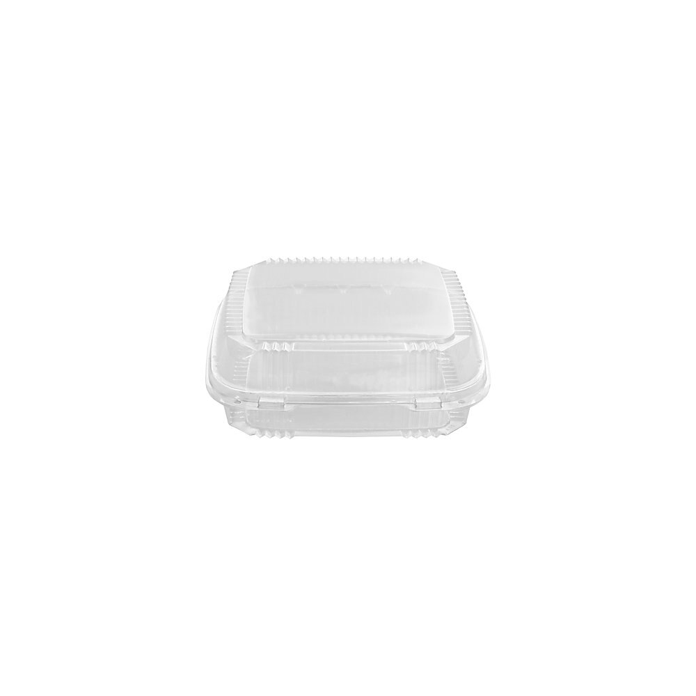 ClearView SmartLock Containers, 49oz, 8 13/64 x 8 11/32 x 2 29/32, 200/Carton