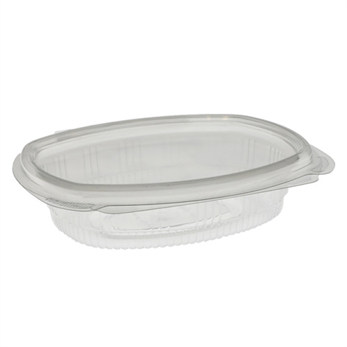 EarthChoice PET Hinged Lid Deli Container, 4.92 x 5.87 x 1.32, 8 oz, 1-Compartment, Clear, 200/Carton