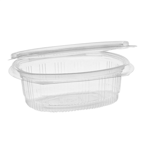 EarthChoice PET Hinged Lid Deli Container, 4.92 x 5.87 x 1.89, 12 oz, 1-Compartment, Clear, 200/Carton