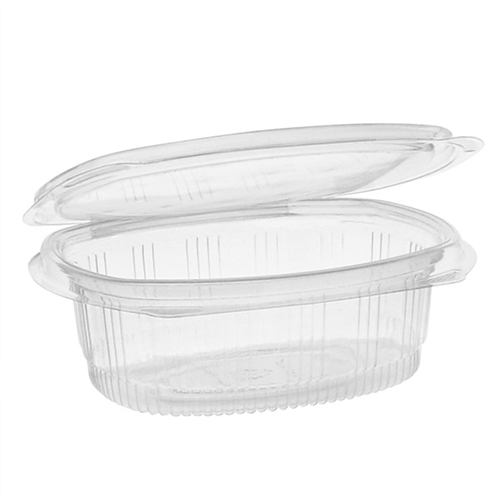 EarthChoice PET Hinged Lid Deli Container, 4.92 x 5.87 x 2.48, 16 oz, 1-Compartment, Clear, 200/Carton