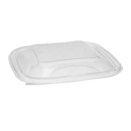 EarthChoice PET Container Lids, For 24-32 oz Container Bases, 7.38 x 7.38 x 0.82, Clear, 300/Carton