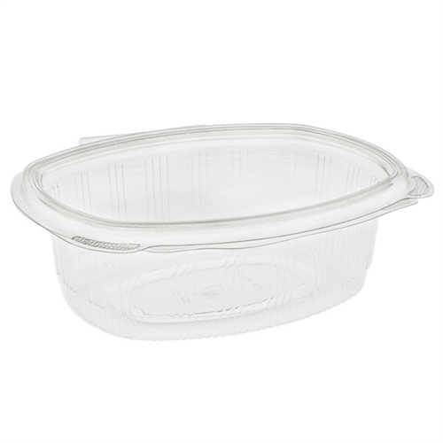 EarthChoice PET Hinged Lid Deli Container, 7.38 x 5.88 x 2.38, 24 oz, 1-Compartment, Clear, 280/Carton