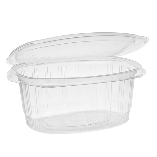 EarthChoice PET Hinged Lid Deli Container, 7.31 x 5.88 x 3.25, 32 oz, 1-Compartment, Clear, 280/Carton