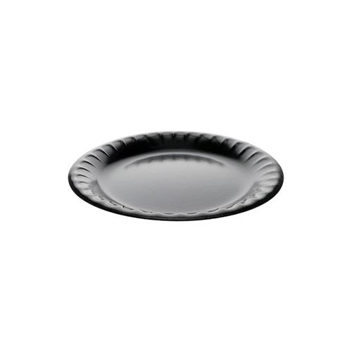 "Laminated Foam Dinnerware, Plate, 9"" Diameter, Black, 500/Carton"