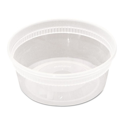 DELItainer Microwavable Combo, Clear, 8 oz, 1.13 x 2.8 x 1.33, 240/Carton