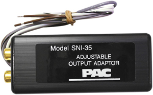 PAC SNI-35 ADJUSTABLE 2-CHANNEL LINE-OUT CONVERTER
