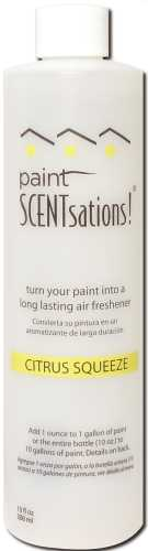 PAINT SCENTSATIONS CITRUS SQUEEZE SCENT 10 OZ. BOTTLE, TREATS 10 GALLONS OF PAINT
