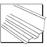 Suntuff 108656 Side Ridge Flashing, 7 in W x 4 ft L, Plastic