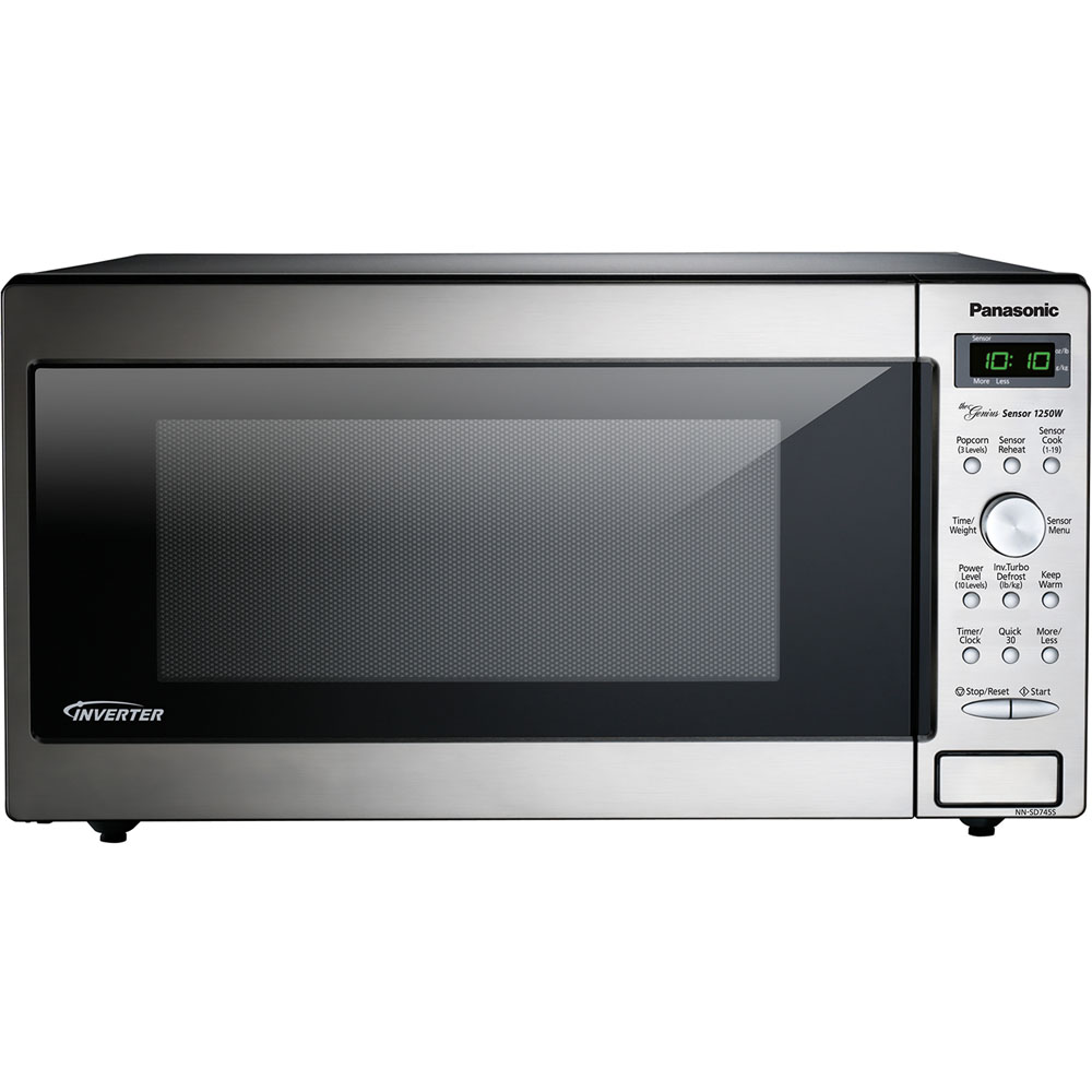 1.6 cu. ft., 1250w Genius Sensor Built-In/Countertop Microwave Oven with Inverter Technology™, Solid Dial, Stainless Steel