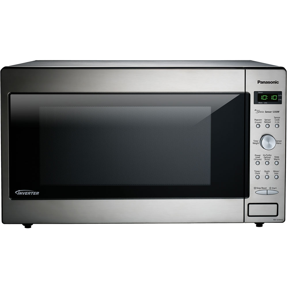 2.2 cu. ft., 1250w Genius Sensor Built-In/Countertop Microwave Oven with Inverter Technology™, Dial Co/EA, Stainless Steel
