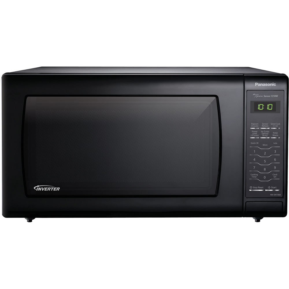 1.6 cu. ft., 1250w Countertop Microwave Oven with Inverter Technology™, Black