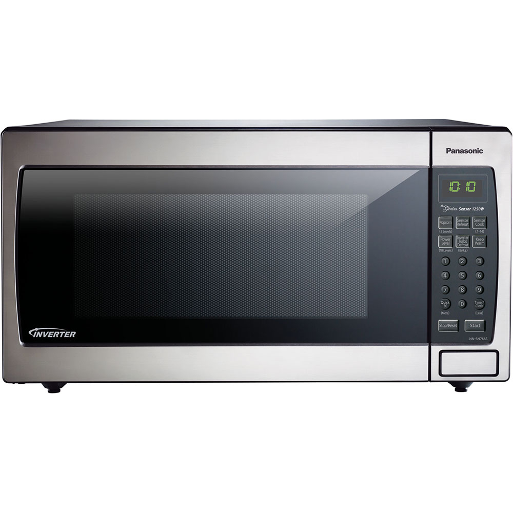 1.6 cu. ft., 1250w Countertop/Built-In Microwave with Inverter Technology, Stainless Steel