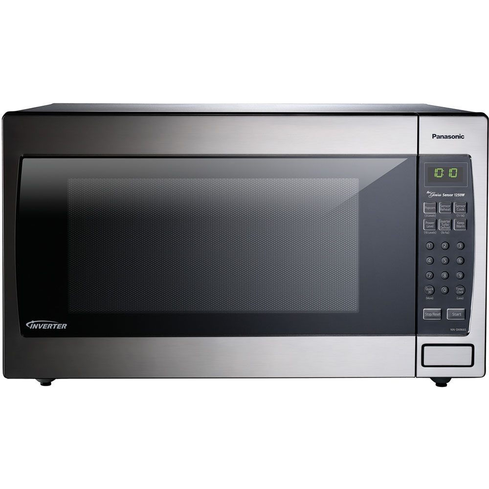 2.2 cu. ft., 1250w Genius Sensor Built-In/Countertop Microwave Oven with Inverter Technology™, Flat P/EA, Stainless Steel